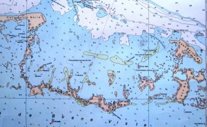 The nautical chart for sailing in Cuba, by Yvonne Gordon